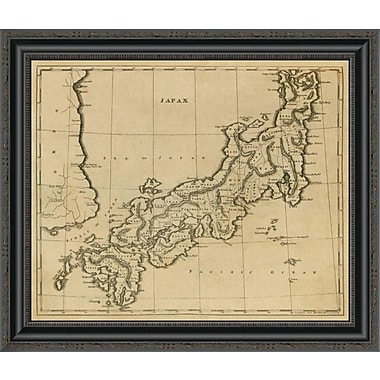 East Urban Home 'Japan; 1812' Framed Print; 22'' H x 26'' W x 1.5'' D