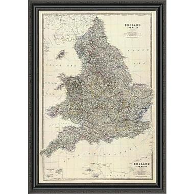 East Urban Home 'Composite: England; Wales; 1861' Framed Print; 34'' H x 28'' W x 1.5'' D