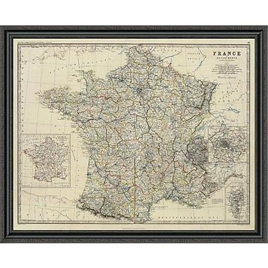 East Urban Home 'France; 1861' Framed Print; 35'' H x 44'' W x 1.5'' D