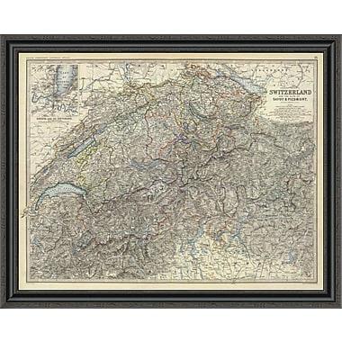 East Urban Home 'Switzerland; Savoy; Piedmont; 1861' Framed Print; 33'' H x 40'' W x 1.5'' D