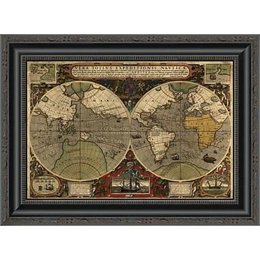 East Urban Home 'Vera Totius Expeditionis Nautica' Framed Print; 16'' H x 20'' W x 1.5'' D