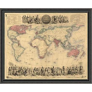 East Urban Home 'British Empire Throughout the World' Framed Print; 31'' H x 44'' W x 1.5'' D