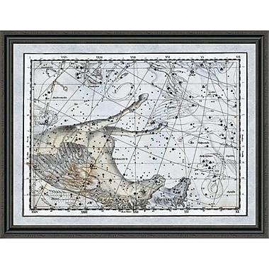 East Urban Home 'Maps of the Heavens: Pegasus the Horse' Framed Print; 16'' H x 44'' W x 1.5'' D