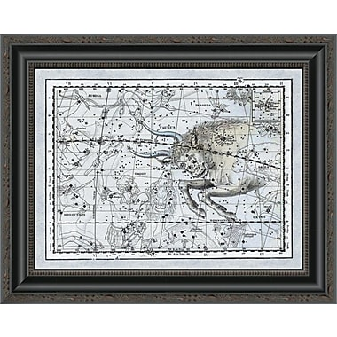 East Urban Home 'Maps of the Heavens: Taurus the Bull' Framed Print; 22'' H x 20'' W x 1.5'' D