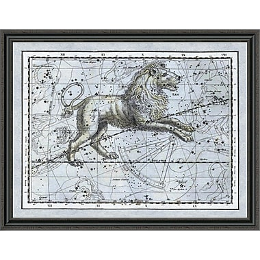 East Urban Home 'Maps of the Heavens: Leo - the Nemean Lion' Framed Print; 16'' H x 44'' W x 1.5'' D