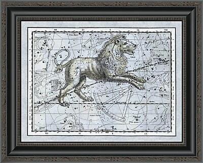 East Urban Home 'Maps of the Heavens: Leo - the Nemean Lion' Framed Print; 22'' H x 20'' W x 1.5'' D