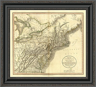 East Urban Home 'New York; Vermont; New Hampshire; 1806' Framed Print; 34'' H x 20'' W x 1.5'' D