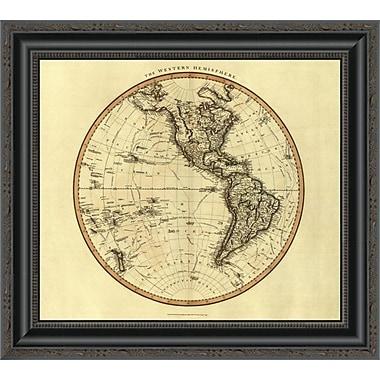 East Urban Home 'Western Hemisphere; 1799' Framed Print; 34'' H x 20'' W x 1.5'' D