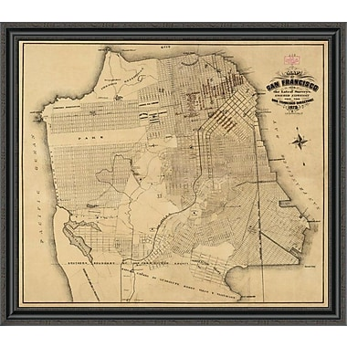 East Urban Home 'San Francisco; California; 1873' Framed Print; 30'' H x 40'' W x 1.5'' D