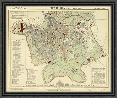East Urban Home 'Rome; 1883' Framed Print; 26'' H x 40'' W x 1.5'' D