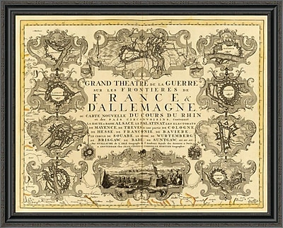 East Urban Home 'Grand Theatre De La Guerre; 1742' Framed Print; 22'' H x 40'' W x 1.5'' D