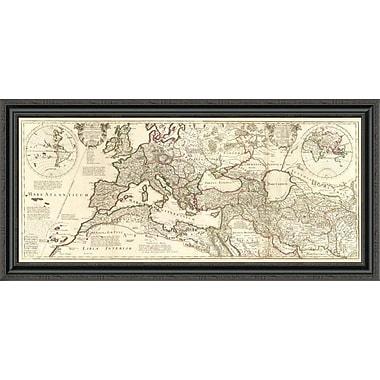 East Urban Home 'Theatrum Historicum; 1705' Framed Print; 32'' H x 44'' W x 1.5'' D