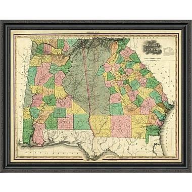 East Urban Home 'Georgia and Alabama; 1823' Framed Print; 34'' H x 40'' W x 1.5'' D