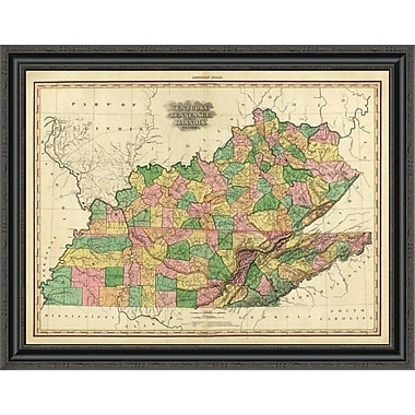 East Urban Home 'Kentucky; Tennessee and Part of Illinois; 1823' Framed Print