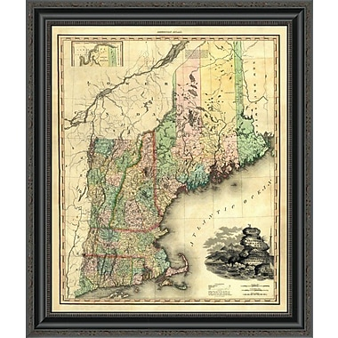'Maine; New Hampshire; Vermont; Massachusetts; Connecticut & Rhode Island; 1823' Framed Print