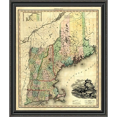 'Maine; New Hampshire; Vermont; Massachusetts; Connecticut & Rhode Island; 1823' Framed Print