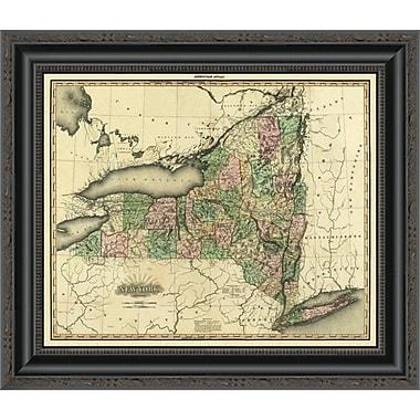 East Urban Home 'New York; 1823' Framed Print; 40'' H x 20'' W x 1.5'' D