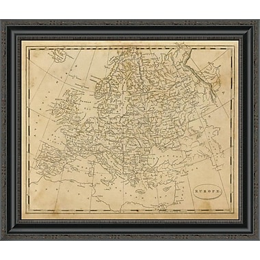 East Urban Home 'Europe; 1812' Framed Print; 26'' H x 26'' W x 1.5'' D