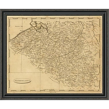 East Urban Home 'Netherlands; 1812' Framed Print; 32'' H x 34'' W x 1.5'' D