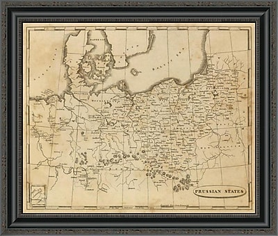 East Urban Home 'Prussian States; 1812' Framed Print; 26'' H x 26'' W x 1.5'' D