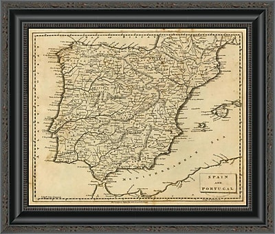 East Urban Home 'Spain; Portugal; 1812' Framed Print; 17'' H x 20'' W x 1.5'' D