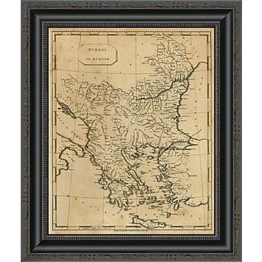 East Urban Home 'Turkey in Europe; 1812' Framed Print; 17'' H x 17'' W x 1.5'' D