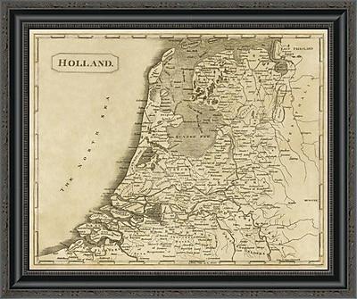 East Urban Home 'Holland; 1812' Framed Print; 26'' H x 26'' W x 1.5'' D