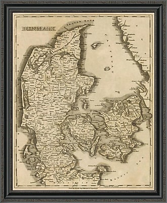 East Urban Home 'Denmark; 1812' Framed Print; 28'' H x 28'' W x 1.5'' D