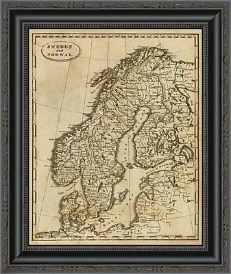 East Urban Home 'Sweden; Norway; 1812' Framed Print; 17'' H x 17'' W x 1.5'' D