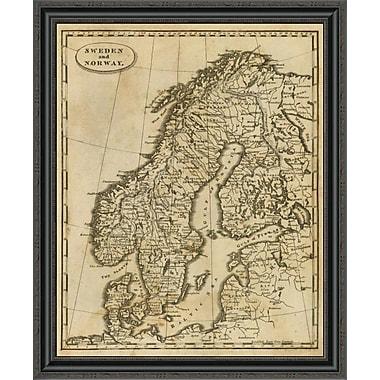 East Urban Home 'Sweden; Norway; 1812' Framed Print; 29'' H x 28'' W x 1.5'' D