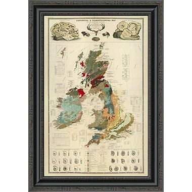 East Urban Home 'Composite: Geological; Palaeontological Map British Islands; 1854' Framed Print