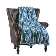 Fleur De Lis Living Biali Microfiber Flannel Blanket; Ocean Depths
