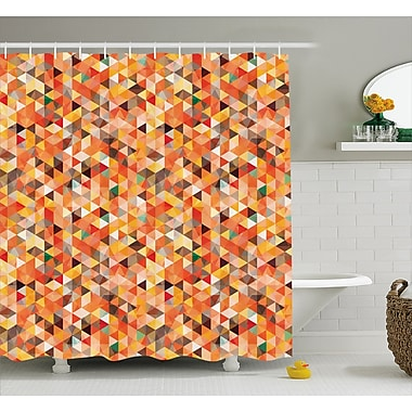 George Oliver Carver Abstract Vibrant Motif Shower Curtain; 69'' W x 75'' L