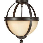 Gracie Oaks Doris 2-Light Autumn Bronze Globe Pendant; 100W A19 Medium