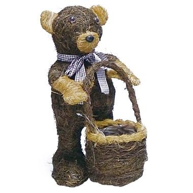 Gardener Select Small Brushwood Bear Topiary 8'' Pot Planter