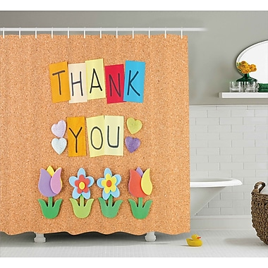 Harriet Bee Jamel Posts Thank You Letters Shower Curtain; 69'' W x 70'' L