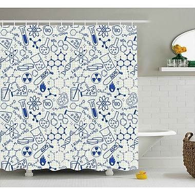 Harriet Bee Vernon Geometry Chemistry Theme Shower Curtain; 69'' W x 75'' L