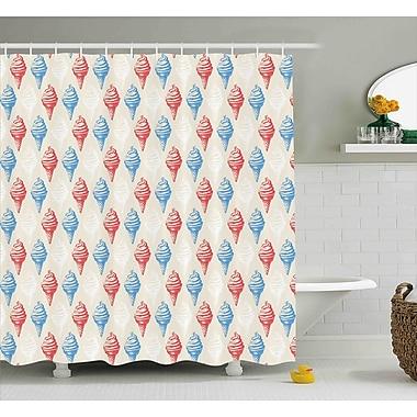 Harriet Bee Jadon Dessert Theme Decor Print Shower Curtain; 69'' W x 75'' L