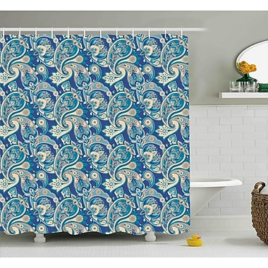 Harriet Bee Hakeem Asian Inspired Persian Shower Curtain; 69'' W x 75'' L