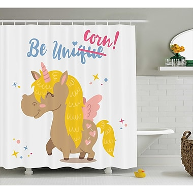 Harriet Bee Axel Funny Kids Quote Vivid Shower Curtain; 69'' W x 84'' L