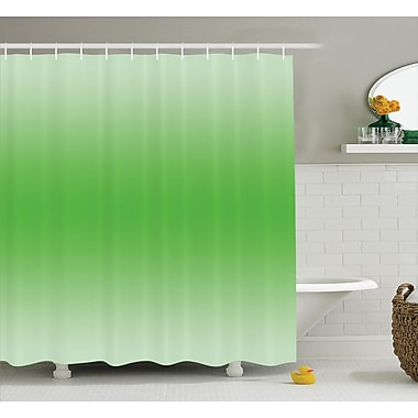 Harriet Bee Fred Moss Leaf Spring Theme Shower Curtain; 69'' W x 70'' L