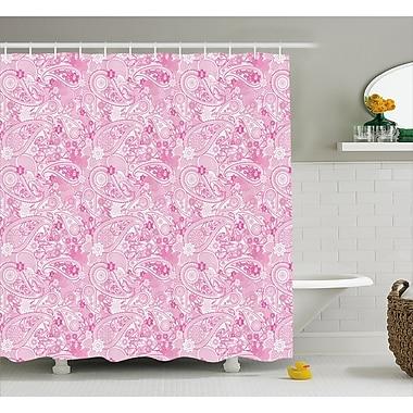 Harriet Bee Simeon Paisley Flowers Leaves Shower Curtain; 69'' W x 84'' L