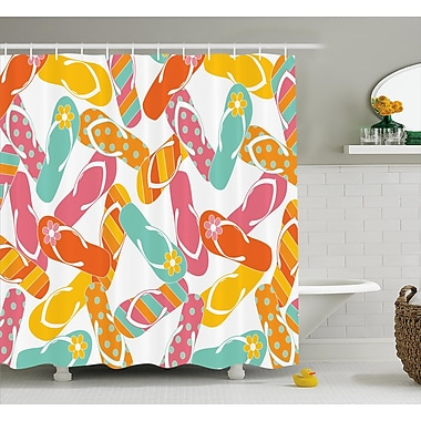 Highland Dunes Roxane Summer Holiday Sandals Shower Curtain; 69'' W x 70'' L