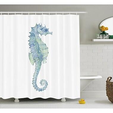 Highland Dunes Roxanna Painbrush Photo Seahorse Shower Curtain; 69'' W x 75'' L