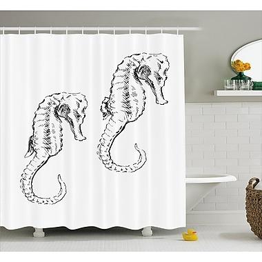 Highland Dunes Roxanna Sketchy Ocean Fish Shower Curtain; 69'' W x 84'' L