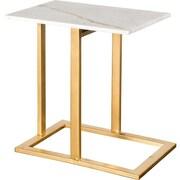 Everly Quinn Alshain End Table; Gold
