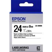 "Epson LabelWorks Standard LK Tape Cartridge -1"" Black on White"