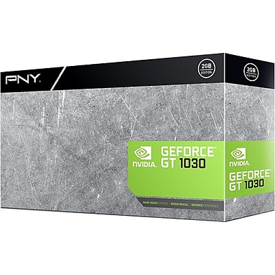 PNY GeForce GTX 1030 Graphic Card, 1.23 GHz Core, 1.47 GHz Boost Clock, 2 GB GDDR5, Low-profile, Single Slot Space Required IM19X8223