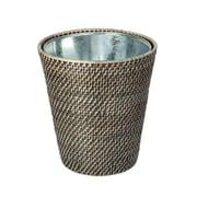 Highland Dunes Leonia Black Wash Waste Basket