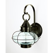 Longshore Tides Audun Brass 1-Light Outdoor Wall Lantern